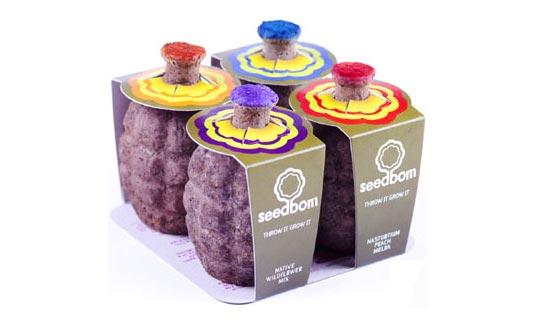 kabloom, seed bombs, seedboms, flower sprouting bombs, eco gifts, eco products, green products, green design