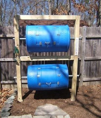 Build a Double-Decker Drum Composter for Serious Composting in Small Spaces