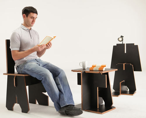 Alphabet Furniture by DDB Group