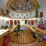 Gorgeous Round Ceiling Bookcase