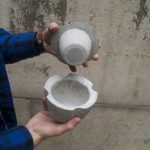 Concrete Cast Spice and Herb Grinder