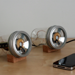 Clever DIY Mason Jar Speakers
