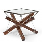 Gorgeous Tensegrity Table Combing Wood, Metal and Glass