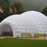 Inflatable Igloo for the Sad State of the Climate