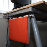 "Space Saving Laptop Hammock ""Dock"" on the Cheap"