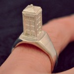 Tiny Tardis Ring in Silver