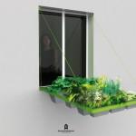 Draw Bridge Style Planters Added Micro Gardening to Your Window