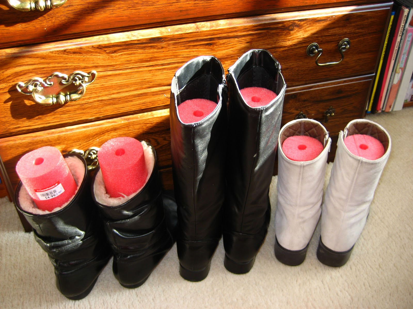 Foam Pool Noodles to Save Your Boots on the Cheap