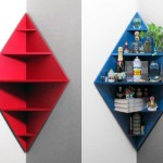 Diamond Shaped Corner Shelves