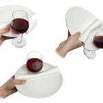 Party Plate and Wine Glass Combination