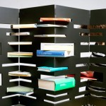 """Edgy"" Modern Bookshelves"