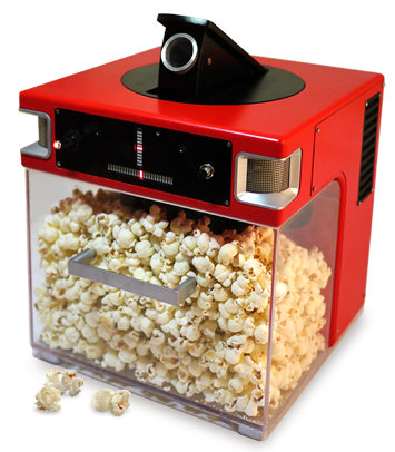 The Popinator makes eating popcorn more fun