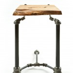 Inspired End Table Fuses Pipeworks and Raw Wood