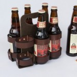 Reusable Artisan Leather 6-Pack Holder