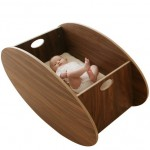 Elegant Front/Back Rocking Baby Crib