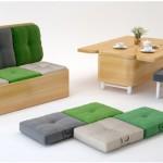 Convertible Sofa & Table Set