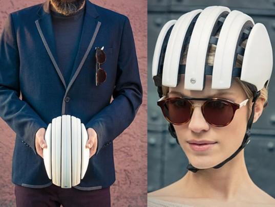 green design, eco design, sustainable design, Carrera foldable bicycle helmet, bike helmets, bike safety, green transportation