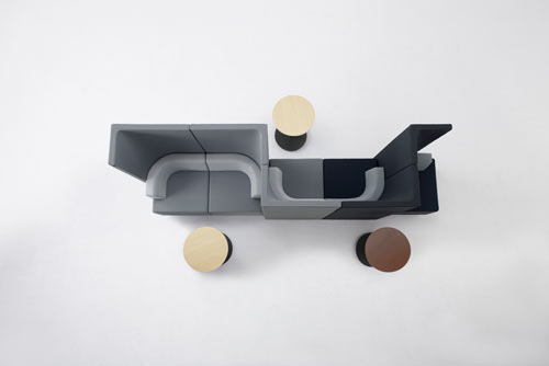 Bracket: A High Back Sofa System by nendo for KOKUYO in home furnishings  Category