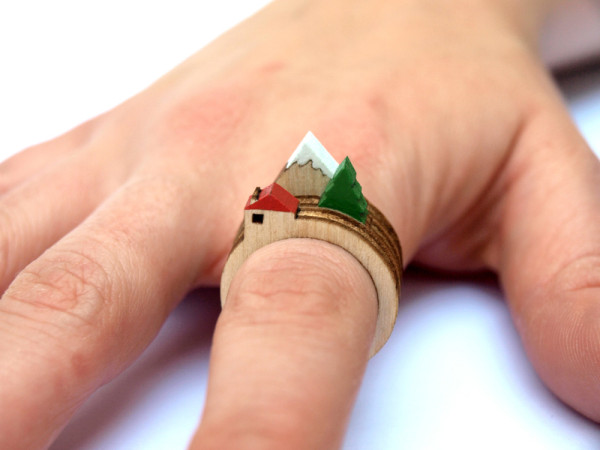 A Tiny Landscape on Your Finger: Birch Rings by Clive Roddy in style fashion  Category