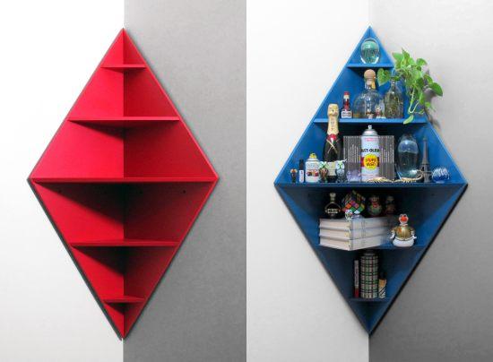 Core Deco Diamond Corner Shelf